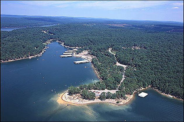 Aerial View Of Lake Greeson
