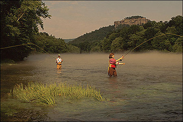 Fly fishing on the little red river for Fishing in arkansas