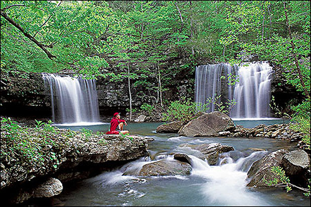 Twin Falls In The Ozark National Forest