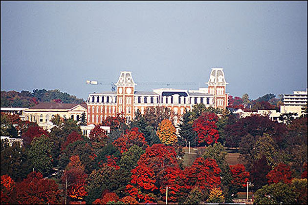 Old Main University Of Arkansas Campus
